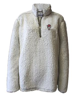 NC State Summit Women's 1/4 Zip Solid Sherpa