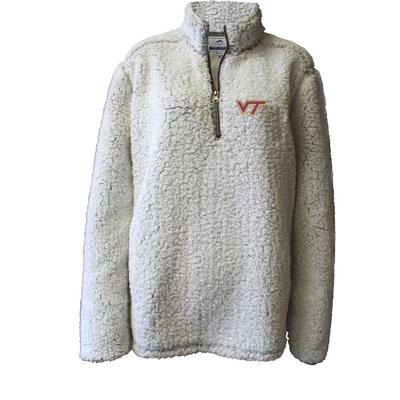 Virginia Tech Summit Women's 1/4 Zip Solid Sherpa