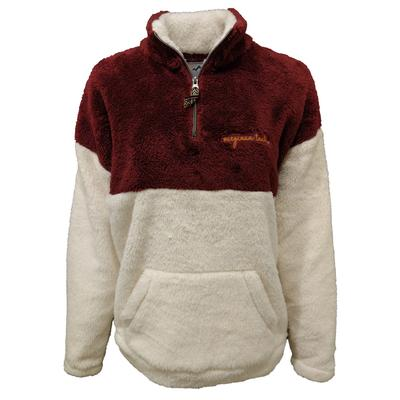 Virginia Tech Summit Women's Double Plush 1/4 Zip Pullover