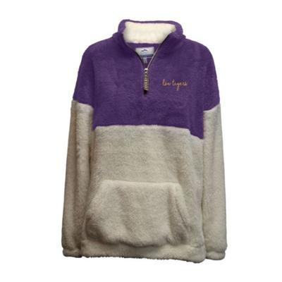 LSU Summit Women's Double Plush 1/4 Zip Pullover