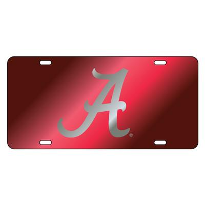 Alabama License Plate Crimson with Silver A