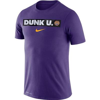 LSU Nike Dri-FIT Cotton Basketball Motto Tee