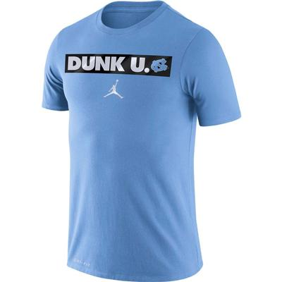 UNC Jordan Brand Dri-FIT Cotton Basketball Motto Tee