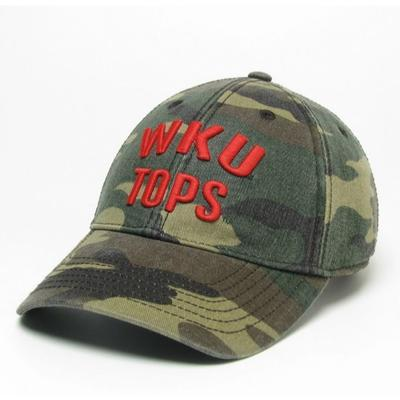 Western Kentucky Legacy Tops Camo Adjustable Twill Hat