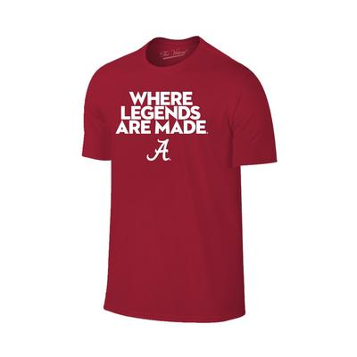 Alabama Where Legends Are Made Tee Shirt