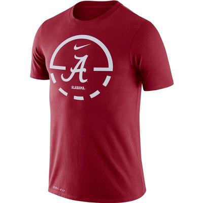 Alabama Nike Dri-FIT Legend Key 2.0 Tee