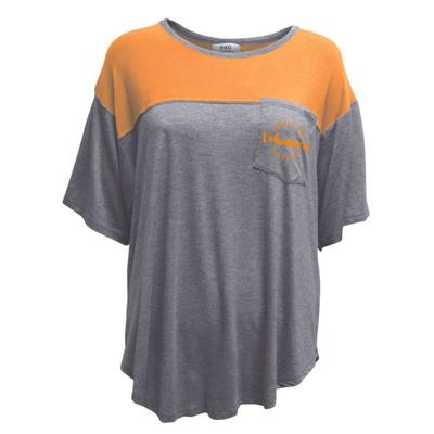 Tennessee Summit Women's Piko Curved Hem Color Block Top