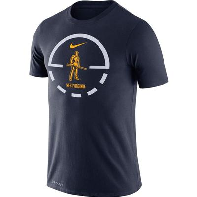 West Virginia Nike Dri-FIT Legend Key 2.0 Tee