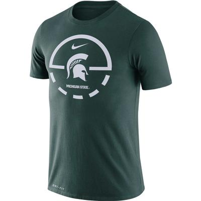 Michigan State Nike Dri-FIT Legend Key 2.0 Tee