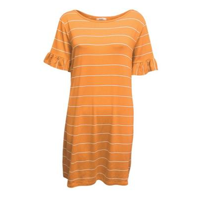Tennessee Summit Women's Piko Striped Ruffle Sleeve Dress