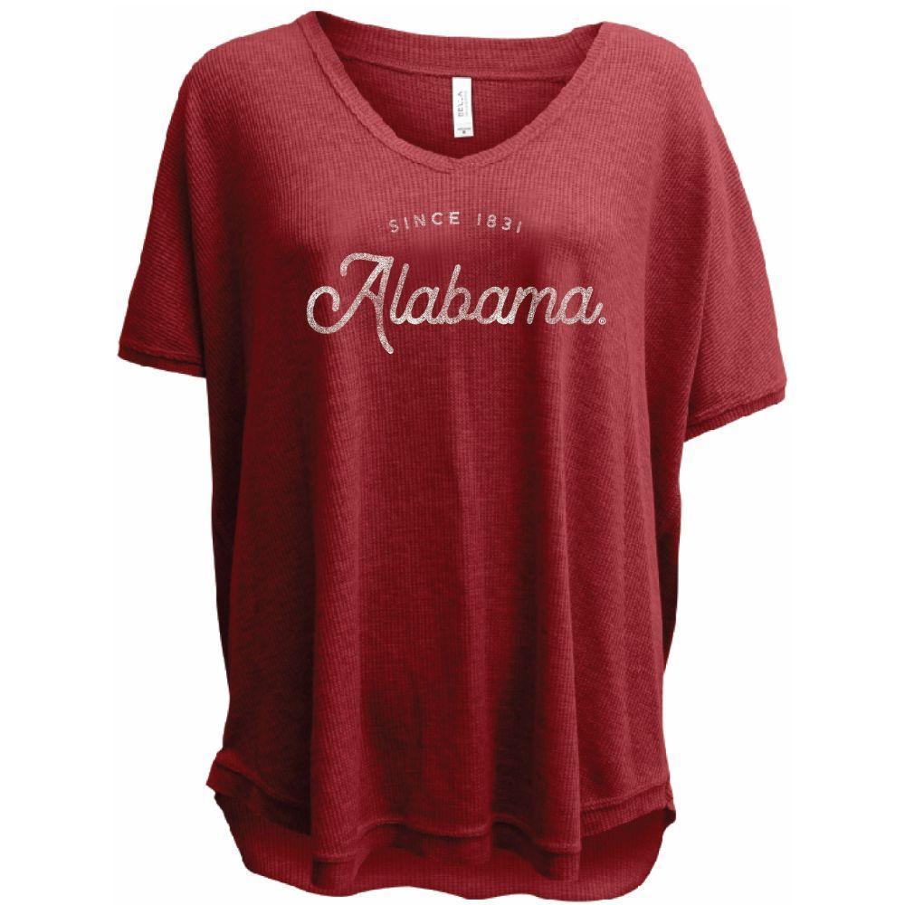 Alabama Summit Women's Waffle Knit V Neck Tee