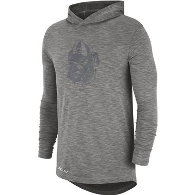 Georgia Nike Long Sleeve Slub Hoody Tee