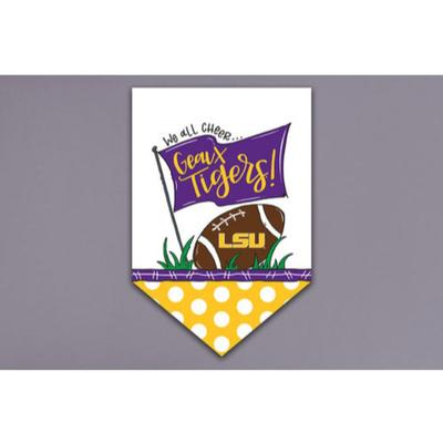 LSU Magnolia Lane Cheer Garden Flag