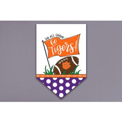 Clemson Magnolia Lane Cheer Garden Flag