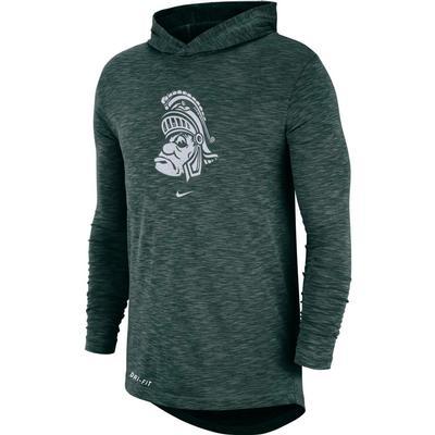Michigan State Nike Long Sleeve Slub Hoody Tee