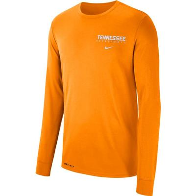 Tennessee Nike Dri-FIT Basketball Long Sleeve Tee