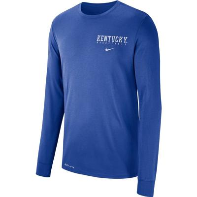 Kentucky Nike Dri-FIT Basketball Logo Long Sleeve Tee