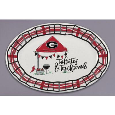 Georgia Magnolia Lane Melamine Oval Platter
