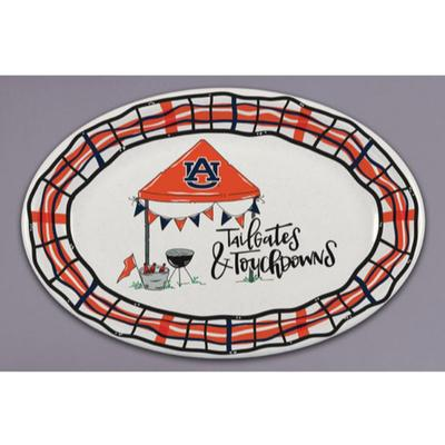 Auburn Magnolia Lane Melamine Oval Platter