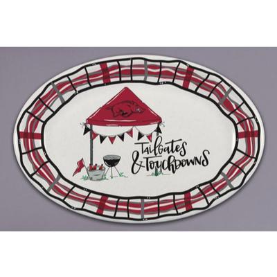 Arkansas Magnolia Lane Melamine Oval Platter