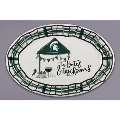 Michigan State Magnolia Lane Melamine Oval Platter
