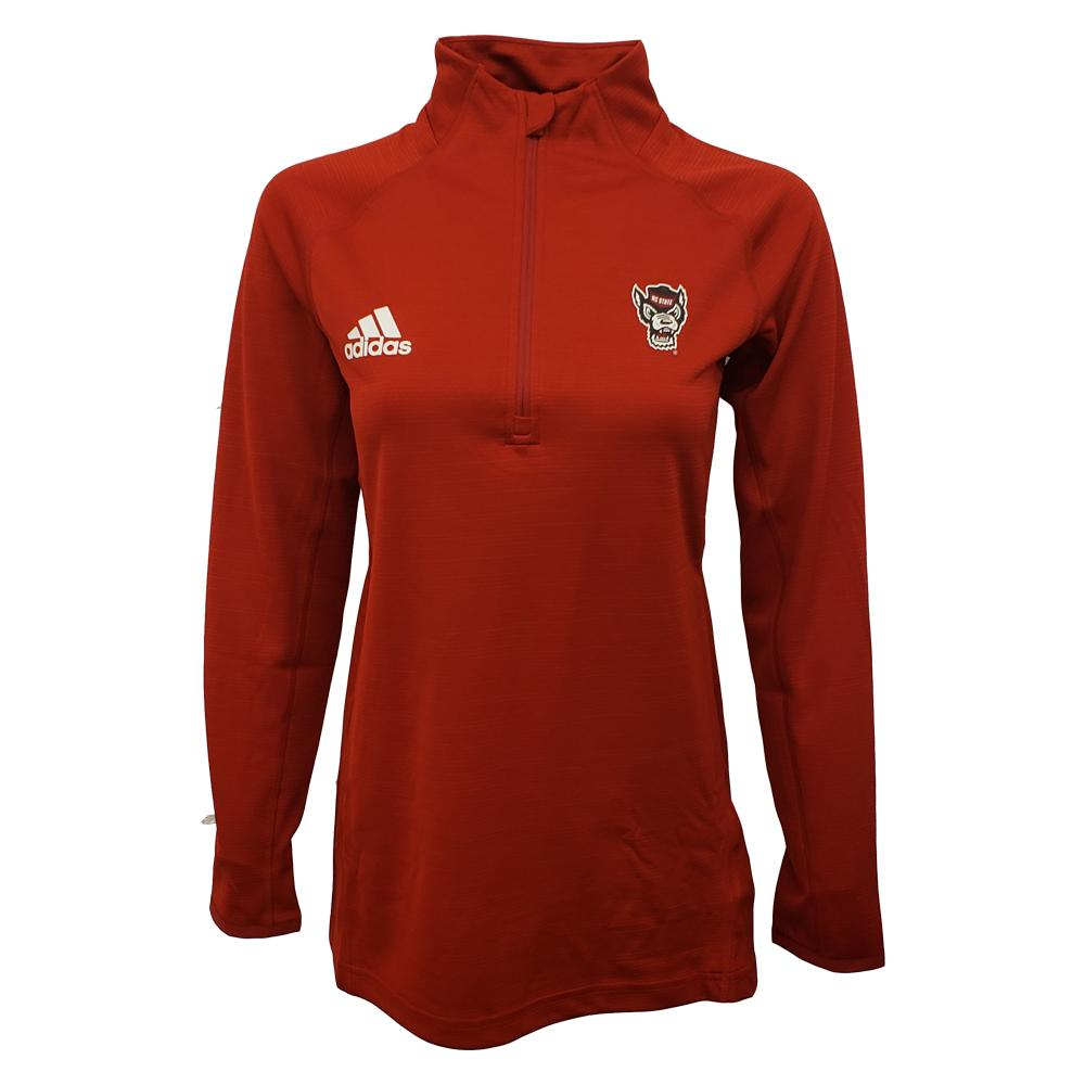 Nc State Women's Adidas Game Mode 1/4 Zip Pullover