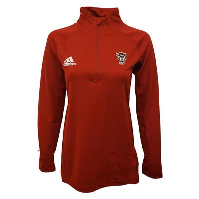 NC State Adidas Game Mode 1/4 Zip Pullover