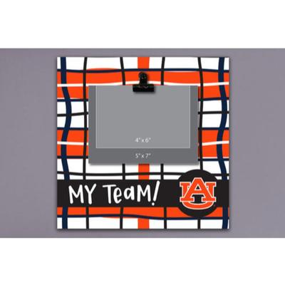 Auburn Magnolia Lane Wood Plaid Frame