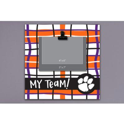 Clemson Magnolia Lane Wood Plaid Frame