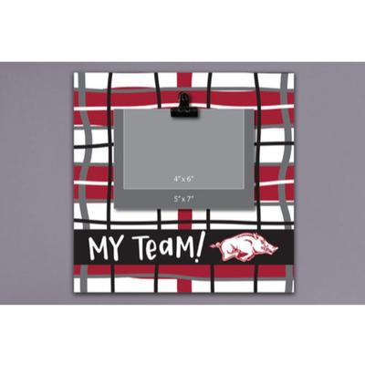 Arkansas Magnolia Lane Wood Plaid Frame