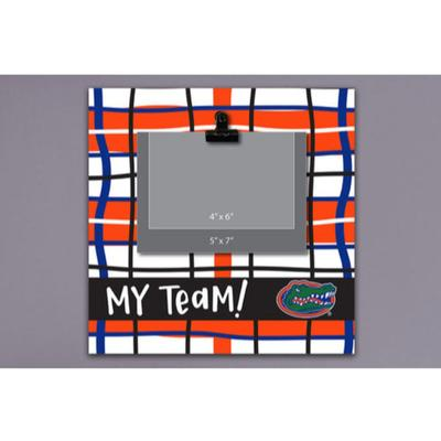 Florida Magnolia Lane Wood Plaid Frame