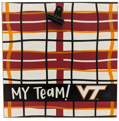 Virginia Tech Magnolia Lane Wood Plaid Frame