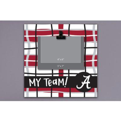 Alabama Magnolia Lane Wood Plaid Frame
