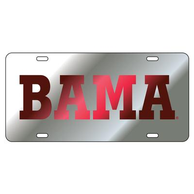Alabama License Plate Silver/Crimson BAMA