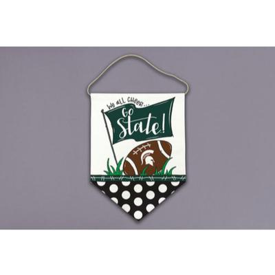 Michigan State Magnolia Lane All Cheer Canvas Hanger