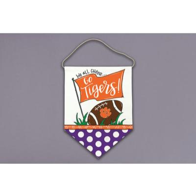 Clemson Magnolia Lane All Cheer Canvas Hanger