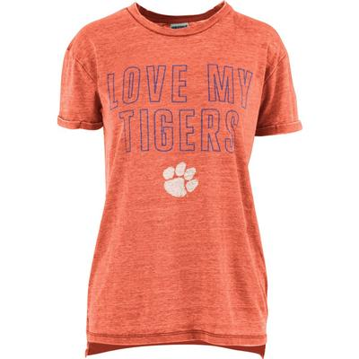 Clemson Pressbox Women's Love Lines Tee Shirt