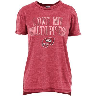 Western Kentucky Pressbox Women's Love Lines Tee Shirt