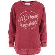Nc State Pressbox Roxy Vintage Wash Fleece