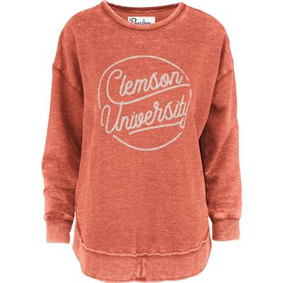 Clemson Pressbox Roxy Vintage Wash Fleece