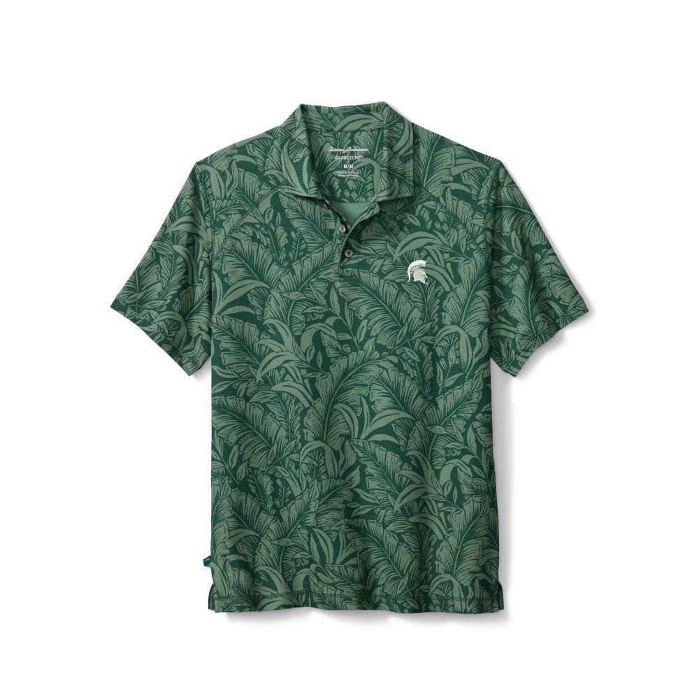 Michigan State Tommy Bahama Leafbacker Polo