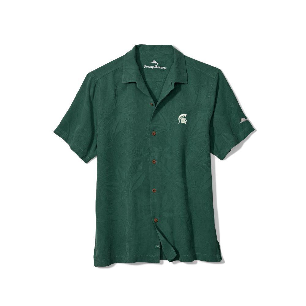 Michigan State Tommy Bahama Al Fresco Tropics Camp Shirt