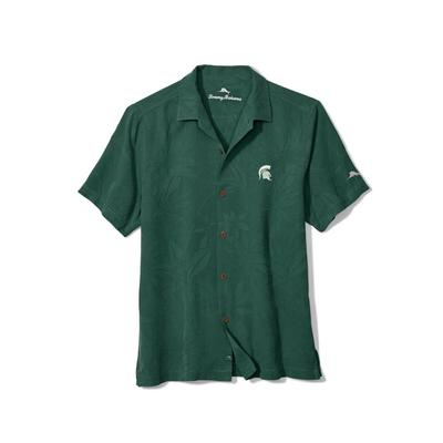 Michigan State Tommy Bahama Al Fresco Tropics Camp Shirt