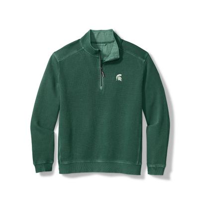 Michigan State Tommy Bahama Nassau Half-Zip Sweatshirt