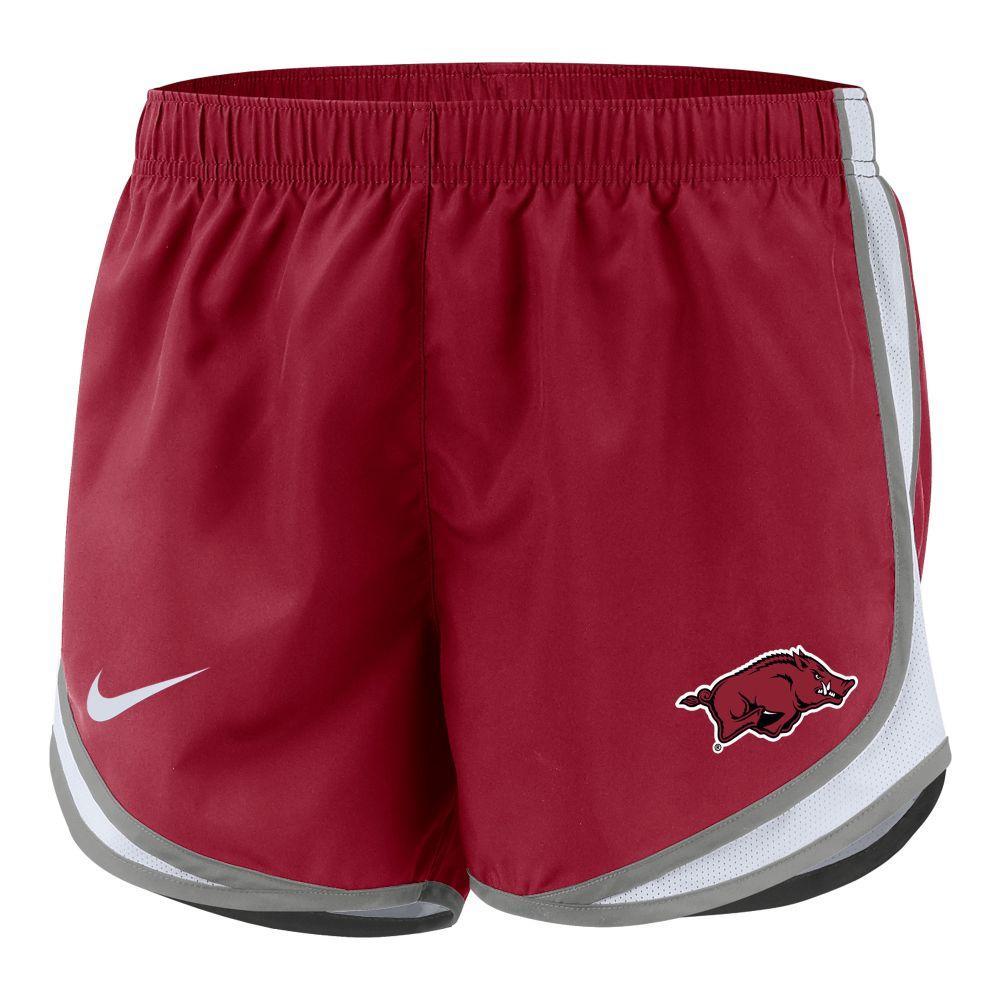Arkansas Nike Girls ' Dri- Fit Tempo Shorts