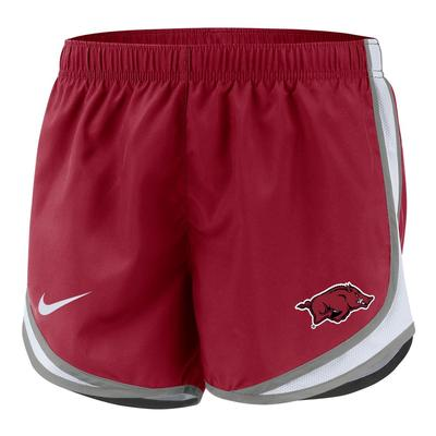 Arkansas Nike Girls' Dri-FIT Tempo Shorts