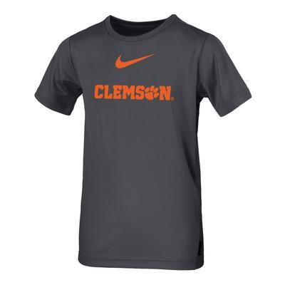 Clemson Nike Boys Coaches Short Sleeve Tee