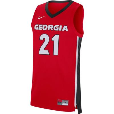Georgia Nike Replica Road Basketball Jersey