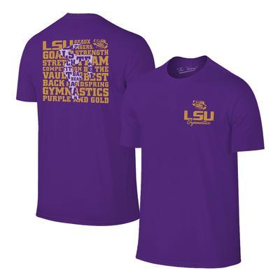 LSU Women's Gymnastics Short Sleeve Tee Shirt