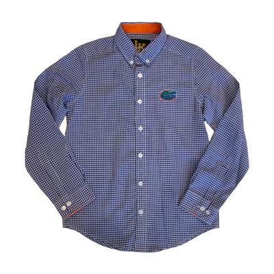 Florida Little King Youth Woven Gingham Button Up Shirt
